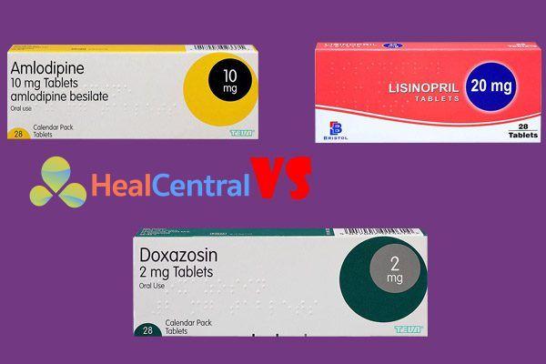 So sánh amlodipine, lisinopril và doxazosin