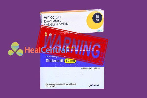 Tương tác thuốc Amlodipine và Sildenafil