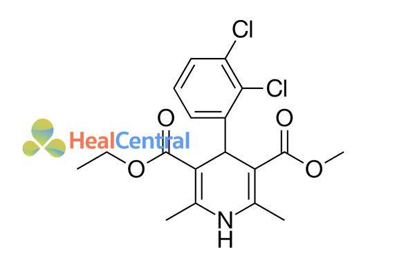 Cấu trúc hóa học của felodipine.