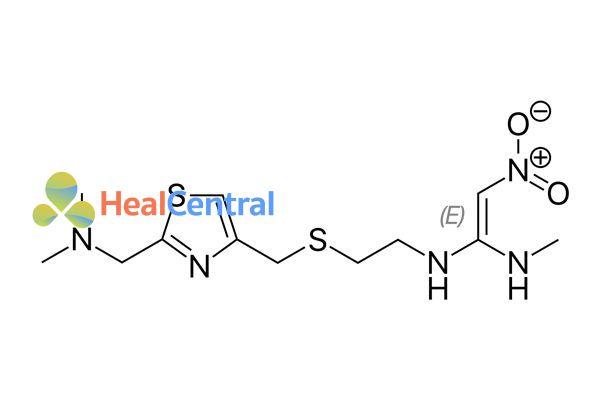 Công thức hóa học Nizatidine