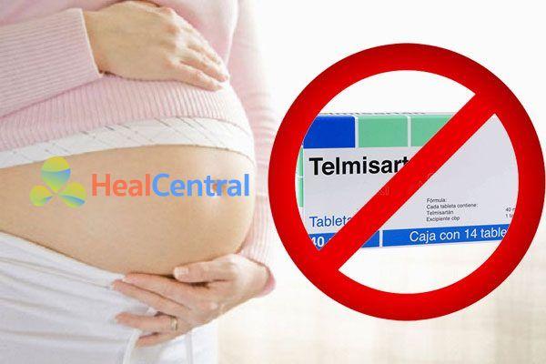 Không sử dụng thuốc telmisartan cho phụ nữ mang thai
