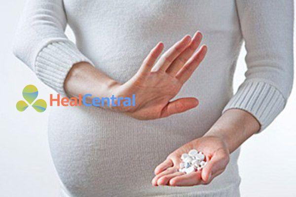 Phụ nữ mang thai không nên sử dụng codein