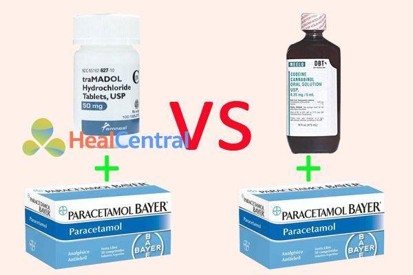 So sánh phối hợp tramadol / paracetamol với phối hợp codeine / paracetamol