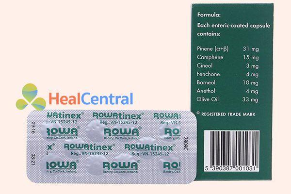 Hộp và vỉ thuốc Rowatinex