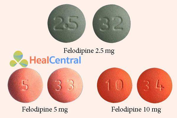 Thuốc Felodipine 2.5mg, 5mg, 10mg