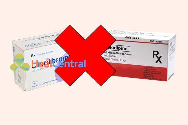 Tương tác thuốc felodipine và clarithromycin