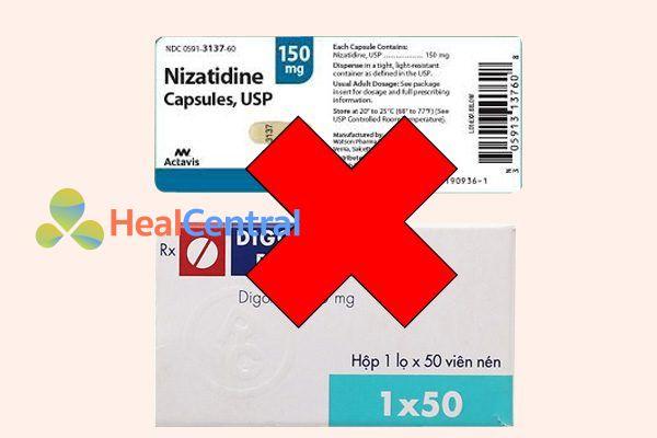 Tương tác thuốcnizatidine và digoxin