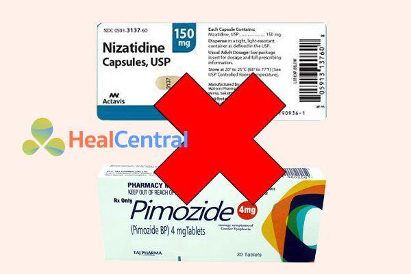 Tương tác thuốc nizatidine và pimozide