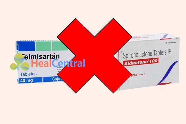 Tương tác thuốc telmisartan và spironolacton