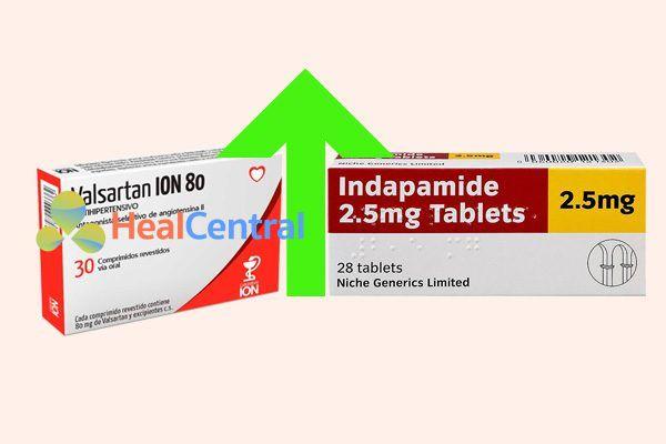 Tương tác thuốc valsartan và indapamide